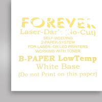Бумага термотрансферная Forever Laser-Dark (No-Cut) LowTemp CMYK, А3 (В- Paper)