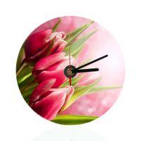 Часы настенные, стекло, круг, глянцевые 200мм