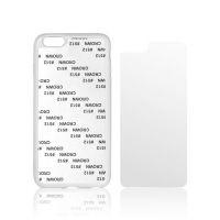 Чехол для IPhone 6+ силикон белый с гибкой глянцевой вставкой премиум