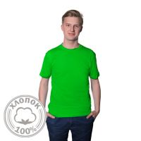 Футболка мужская хлопок светло-зеленая - 44 (S)