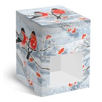 Коробка под елочный шар Снегири