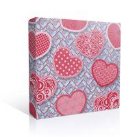 Коробка под тарелки Сердечки