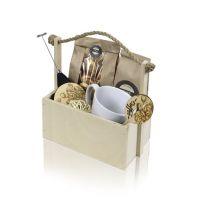 """Набор подарочный """"Ароматный капучино"""" в деревянном кашпо с ручкой"""