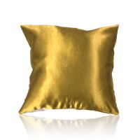 Наволочка для сублимации, атлас 400х400 мм, белая с золотым, с уголками