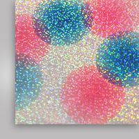 Пленка термотрансферная, голографическая, разноцветные круги, 500мм x 50м