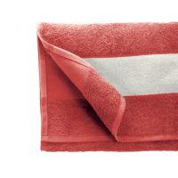 Полотенце махровое 30*70 см, 400 г/м2, хлопок, с 1 полем под сублимацию, красный (185)