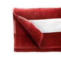 Полотенце махровое 50*100 см, 400 г/м2, хлопок, с 1 полем под сублимацию, красный (18-1663TPX)