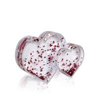 Рамка водяная 2 сердца с хлопьями в виде сердечек 137х95мм премиум