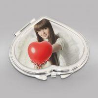 Зеркальце в форме сердца, 56 мм x 60 мм